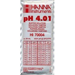 Liquido calibrador HANNA pH 4.01 20 ml.